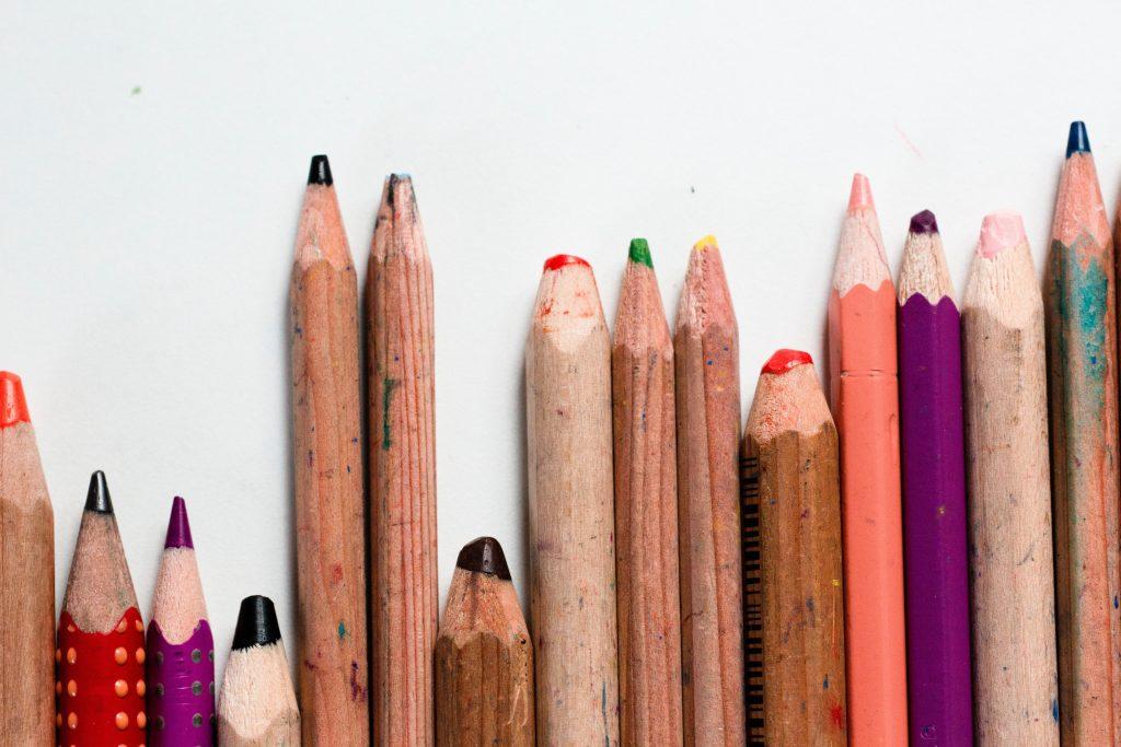 photo of pencil crayons