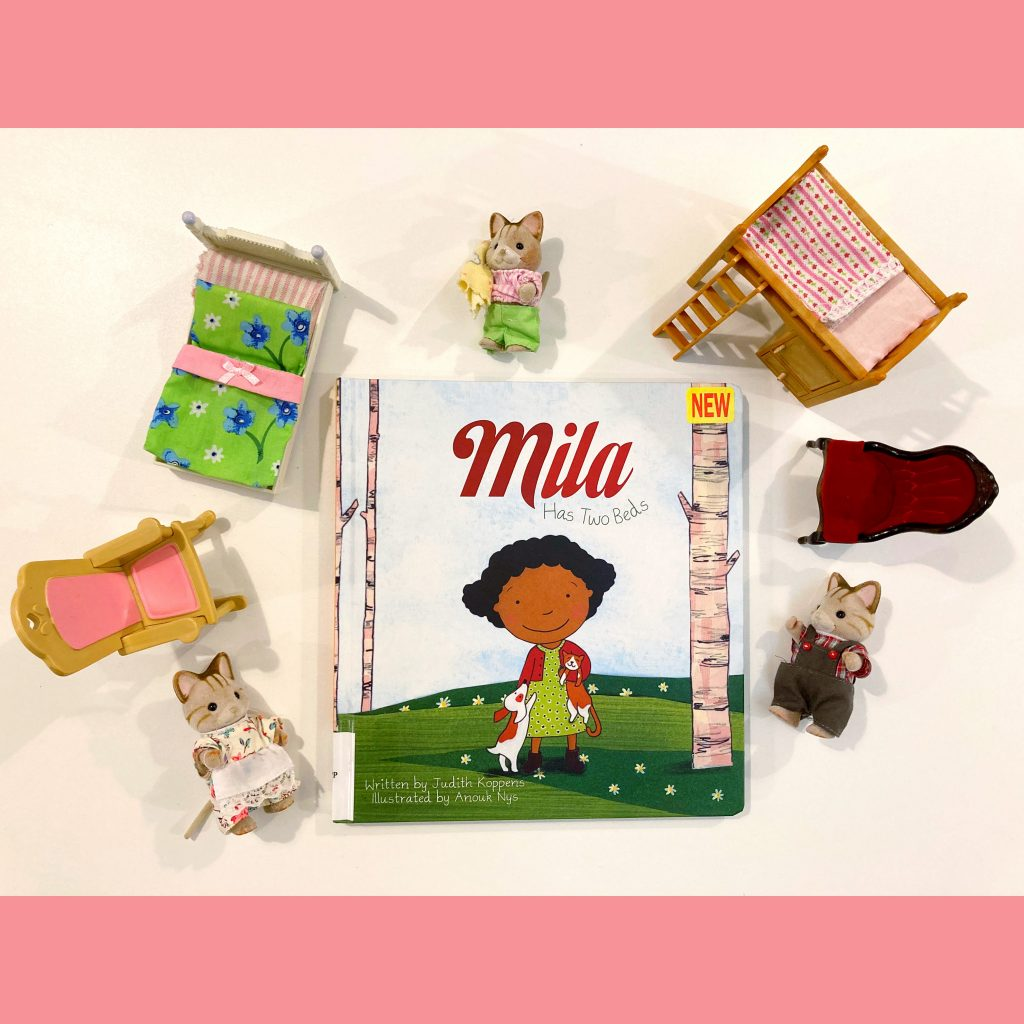 "photo of ""Mila Has Two Beds"" picture book by Judith Koppens"