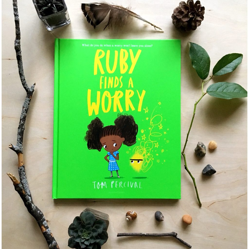 "photo of ""Ruby Finds A Worry"" children's book by Tom Percival"