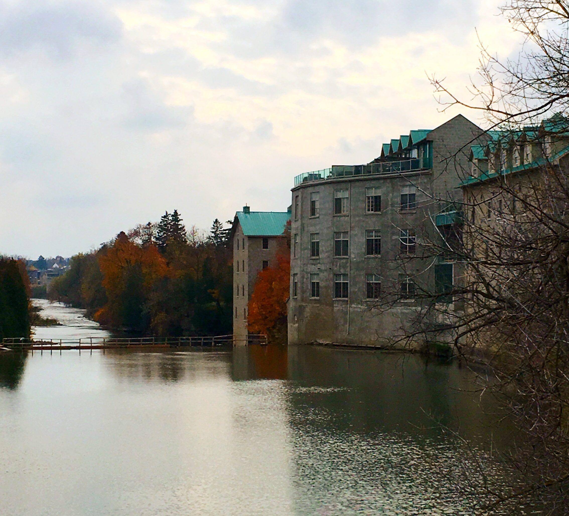 The Grand River in Fergus Ontario Canada